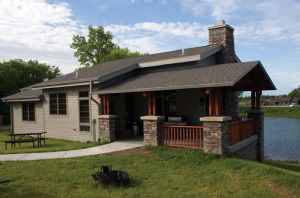 Funding from the Nebraska Game and Parks Foundation built this mini-lodge at Ponca State Park.